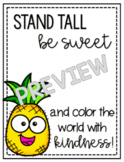 Be A Pineapple {Color the World with Kindness} Gift Tag