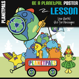 Earth Theme Be A Planetpals Poster Eco Friendly Message Ea