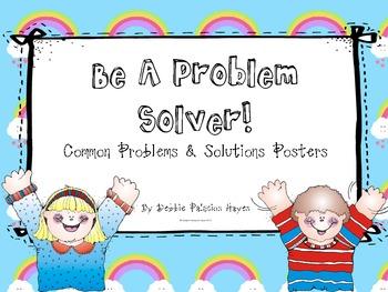 "Behavior & Management: ""Be A Problem Solver!"" Classroom Posters"