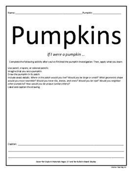 Pumpkin Investigations: Math, Science, Art & STEM
