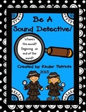Be A Sound Detective! Beginning and Ending Sound Sort