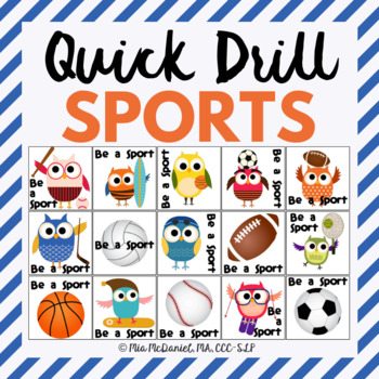 Be A Sport Quick Drill {for articulation or fluency therapy & RTi}