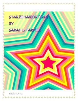 Be A Star!  Behavior Plan