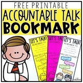 Be A Text Talker Bookmark Freebie