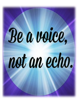 Be A Voice (Poster)