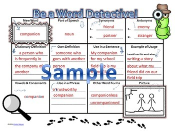 Be A Word Detective: Vocabulary Activity