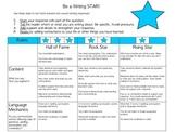 Standard Writing Rubric: Be a Writing Star