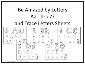 Be Amazed by Letters Tracing Sheets (NO PREP)