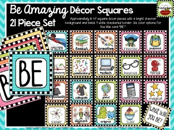 Be Amazing Decor Squares