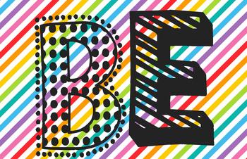 Be...Amazing Rainbow Patterns Bulletin Board/Door Decor Set