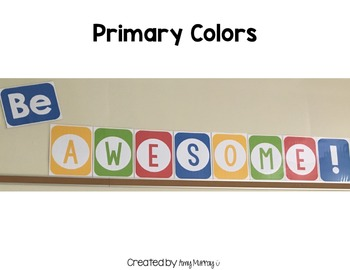 Be Awesome Classroom Motto Poster