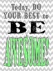 Be Awesome Printable