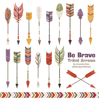 Be Brave Tribal Arrow Clipart & Vectors in Autumn - Tribal Arrows