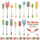 Be Brave Tribal Arrow Clipart & Vectors in Crayon Box - Tribal Arrows