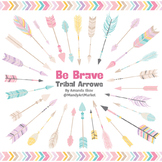 Be Brave Tribal Arrow Clipart & Vectors in Fresh - Tribal Arrows
