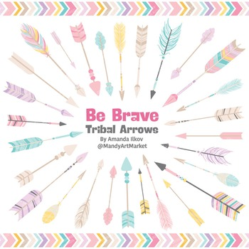 Be Brave Tribal Arrow Clipart & Vectors in Fresh - Tribal Arrows