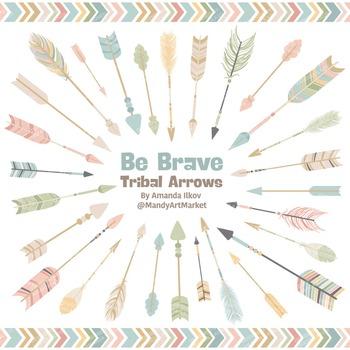 Be Brave Tribal Arrow Clipart & Vectors in Grandmas Garden