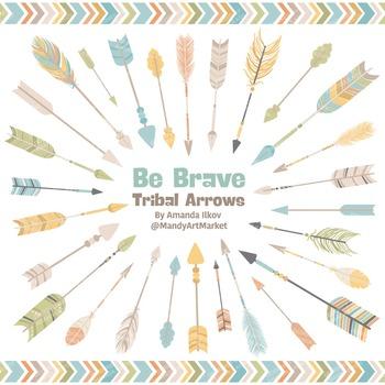 Be Brave Tribal Arrow Clipart & Vectors in Vintage - Tribal Arrows