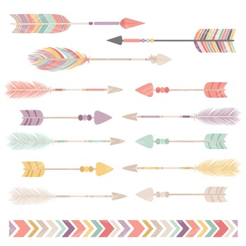 Be Brave Tribal Arrow Clipart Vectors In Vintage