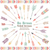 Be Brave Tribal Arrow Clipart & Vectors in Vintage - Triba