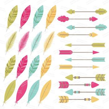 Be Brave Tribal Clipart & Vectors in Bohemian - Tribal Clip Art, Totem, Arrow