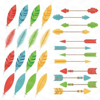 Be Brave Tribal Clipart & Vectors in Crayon Box - Tribal Clip Art, Totem, Arrow