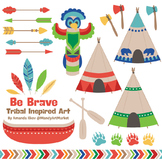 Be Brave Tribal Clipart & Vectors in Crayon Box - Tribal C