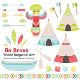 Be Brave Tribal Clipart & Vectors in Fresh - Tribal Clip Art, Totem, Arrow