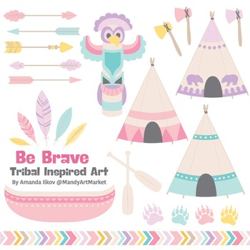 Be Brave Tribal Clipart & Vectors in Fresh - Tribal Clip A