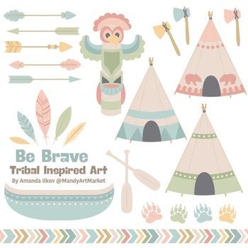 Be Brave Tribal Clipart & Vectors in Grandmas Garden - Tri