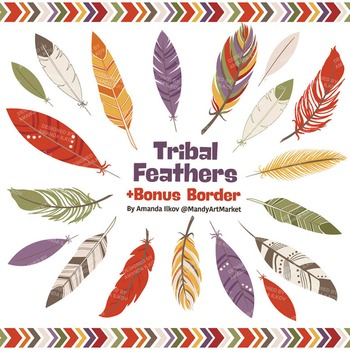Be Brave Tribal Feathers Clipart & Vectors in Autumn - Feather Clip Art
