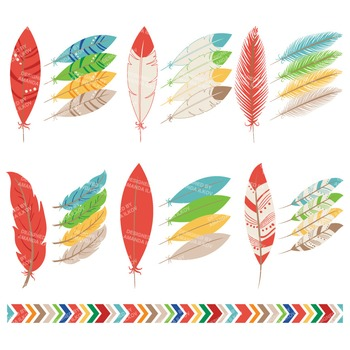 Be Brave Tribal Feathers Clipart & Vectors in Crayon Box - Feather Clip Art