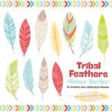 Be Brave Tribal Feathers Clipart & Vectors in Fresh - Feather Clip Art