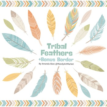 Be Brave Tribal Feathers Clipart & Vectors in Vintage - Fe