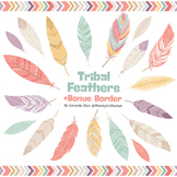 Be Brave Tribal Feathers Clipart & Vectors in Vintage - Feather Clip Art