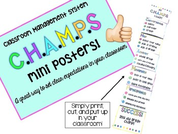 Be C.H.A.M.P.S Mini Posters