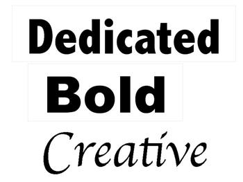 Be.... Characteristics Bulletin Board Set