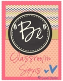 """Be"" Classroom Printable Signs (Vintage Theme)"