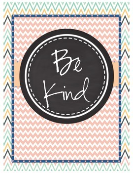 """Be"" Classroom Printable Signs (Beachy Theme)"