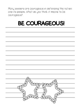 Be Courageous ~ Veteran's Day Creative Writing