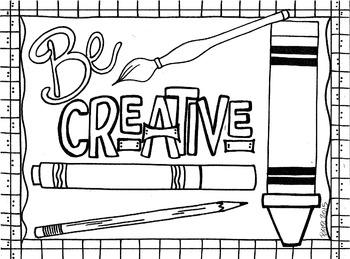 Be Creative Coloring Sheet