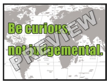 Be Curious World Poster Classroom