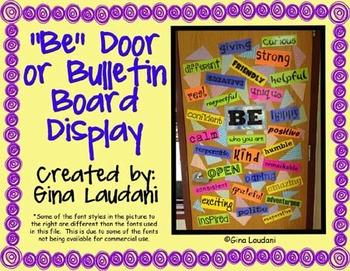 """Be"" Door or Bulletin Board Display"