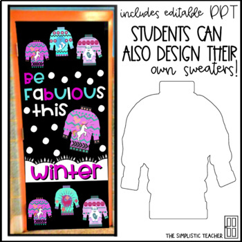 Be Fabulous Ugly Christmas Sweater/Winter Bulletin Board, Door Decor, or Poster