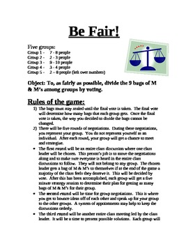 Be Fair! Social Simulation