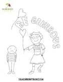 Be Generous Empathy Colouring/Coloring Sheet