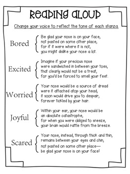 Be Glad Your Nose is on Your Face: Poetry Activities