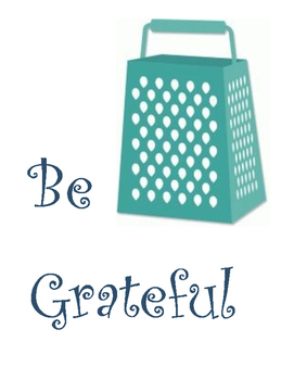Be Grateful Classroom Poster