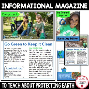 Be Green Earth Day Magazine {FREEBIE!}