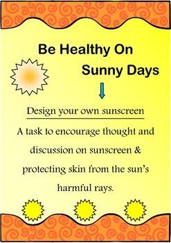 Be Healthy On Sunny Days Health Visual Literacy Arts Design Task